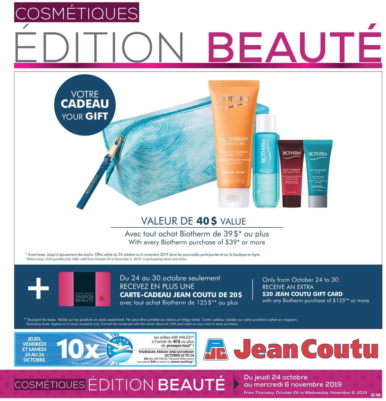 Jean Coutu Flyer - 10/24-11/06/2019