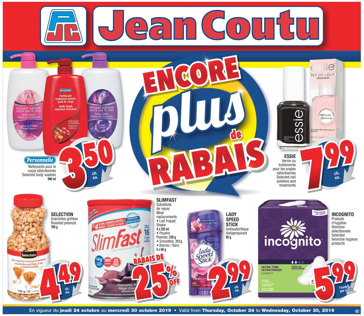 Jean Coutu Flyer - 10/24-10/30/2019