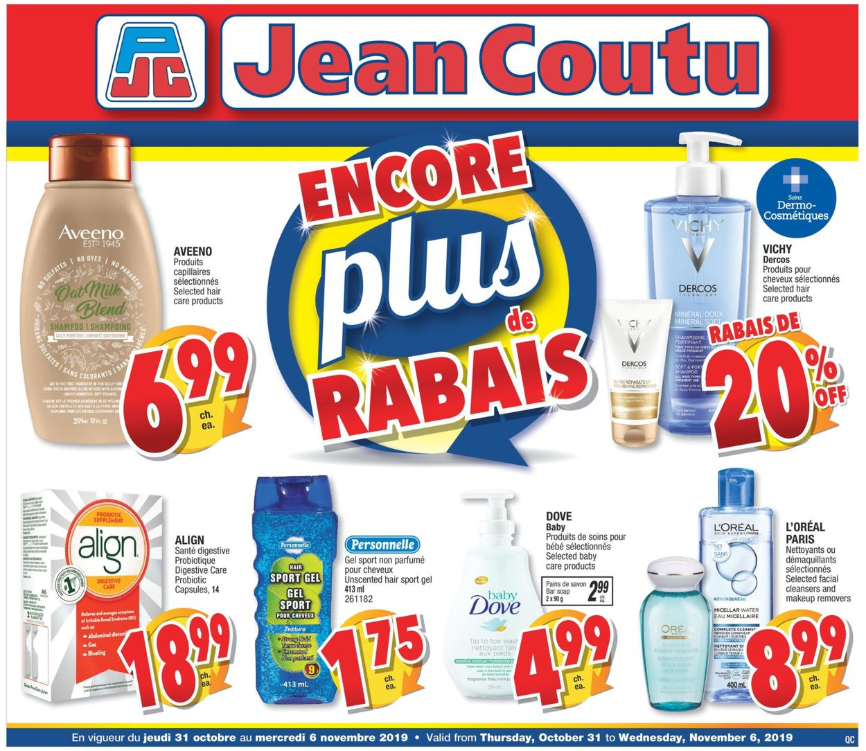 Jean Coutu Flyer - 10/31-11/06/2019