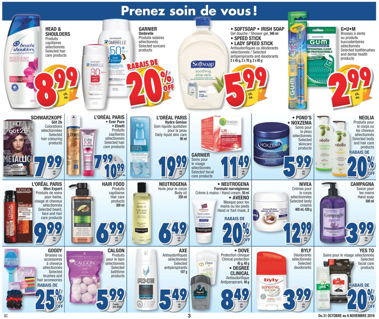 Jean Coutu Flyer - 10/31-11/06/2019 (Page 3)