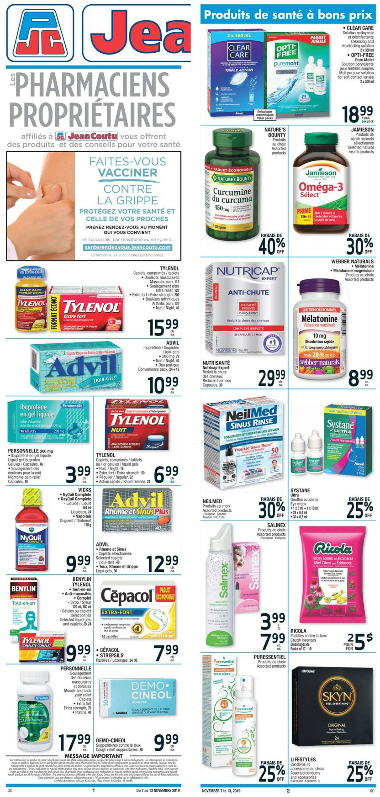 Jean Coutu Flyer - 11/07-11/13/2019
