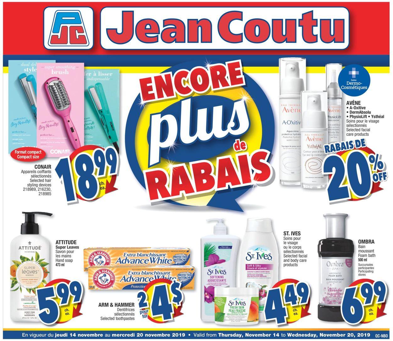 Jean Coutu Flyer - 11/14-11/20/2019