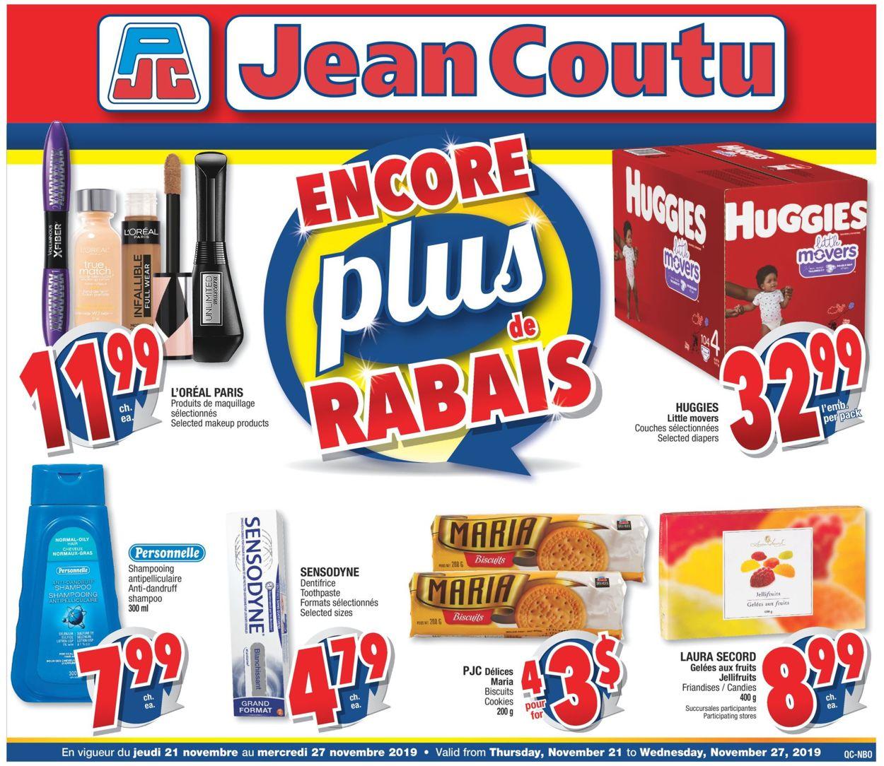 Jean Coutu Flyer - 11/21-11/27/2019