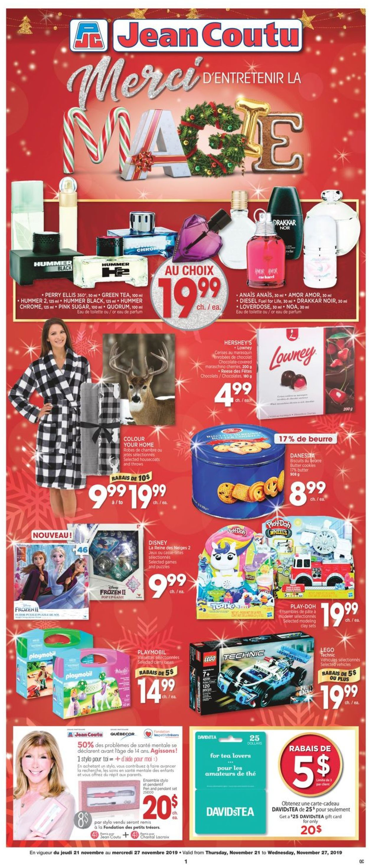 Jean Coutu Holiday Gifts Ideas 2019 Flyer - 11/21-11/27/2019
