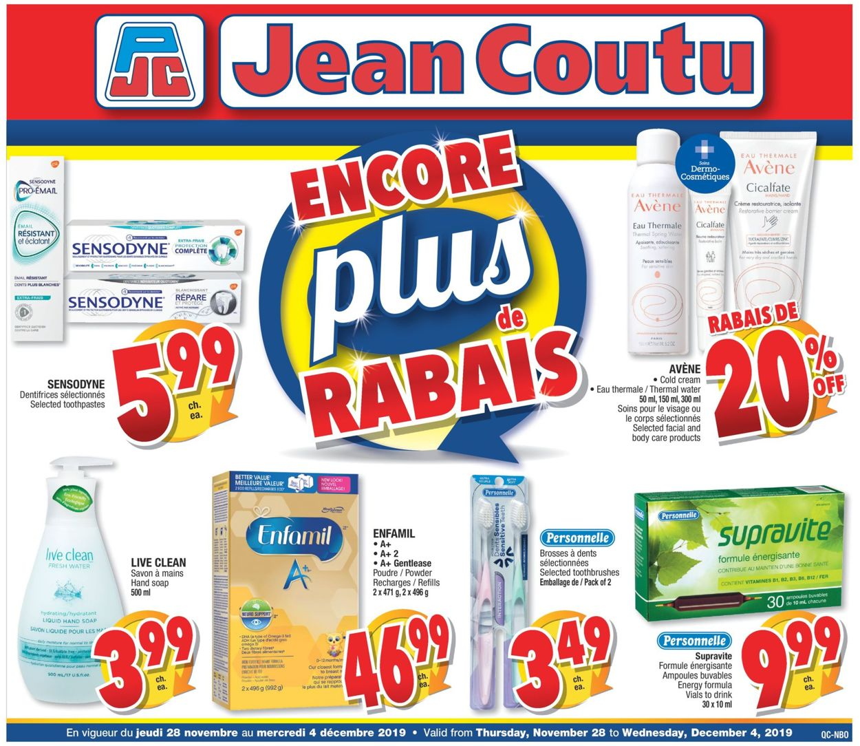Jean Coutu Flyer - 11/28-12/04/2019