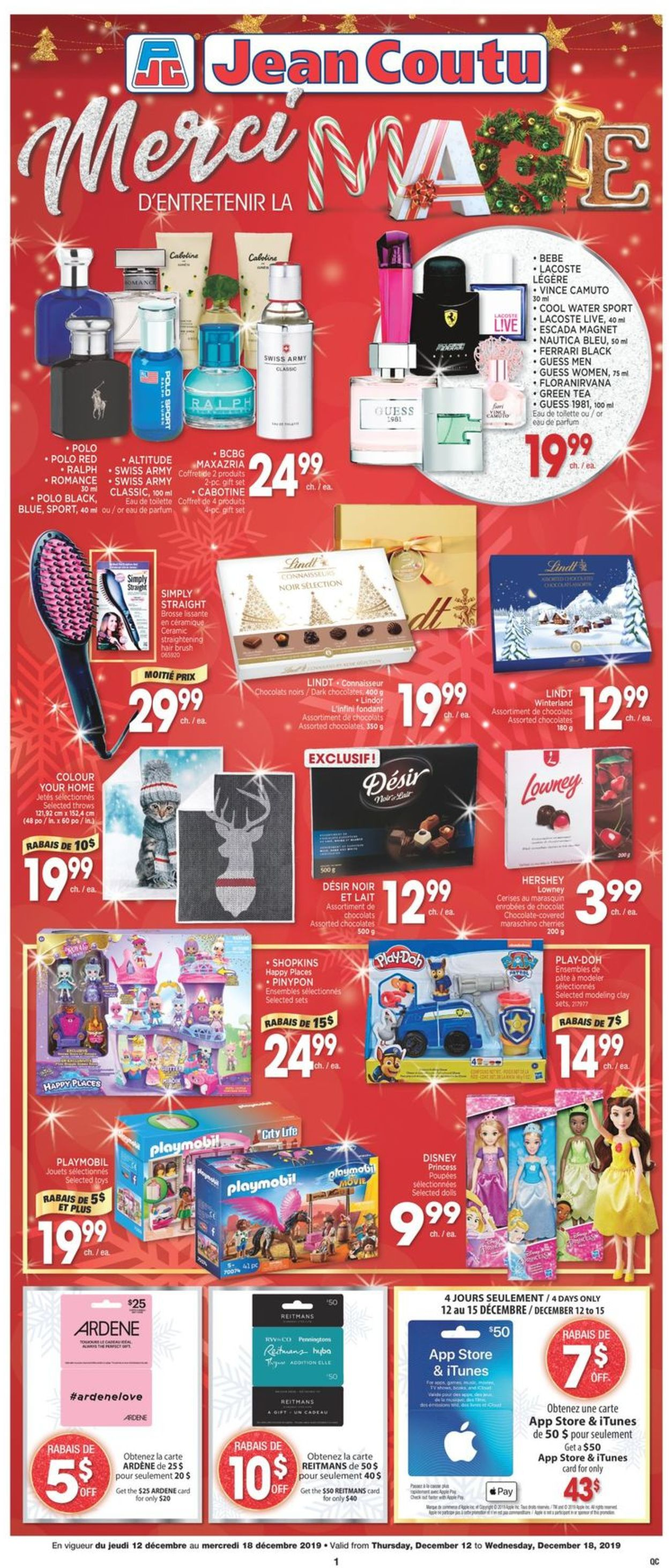 Jean Coutu Holiday Flyer 2019