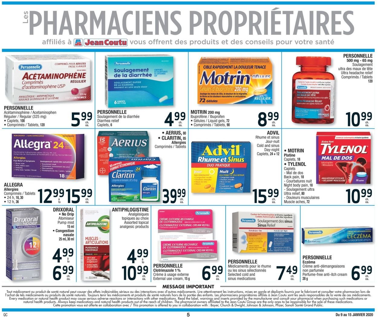 Jean Coutu Flyer - 01/09-01/15/2020 (Page 5)