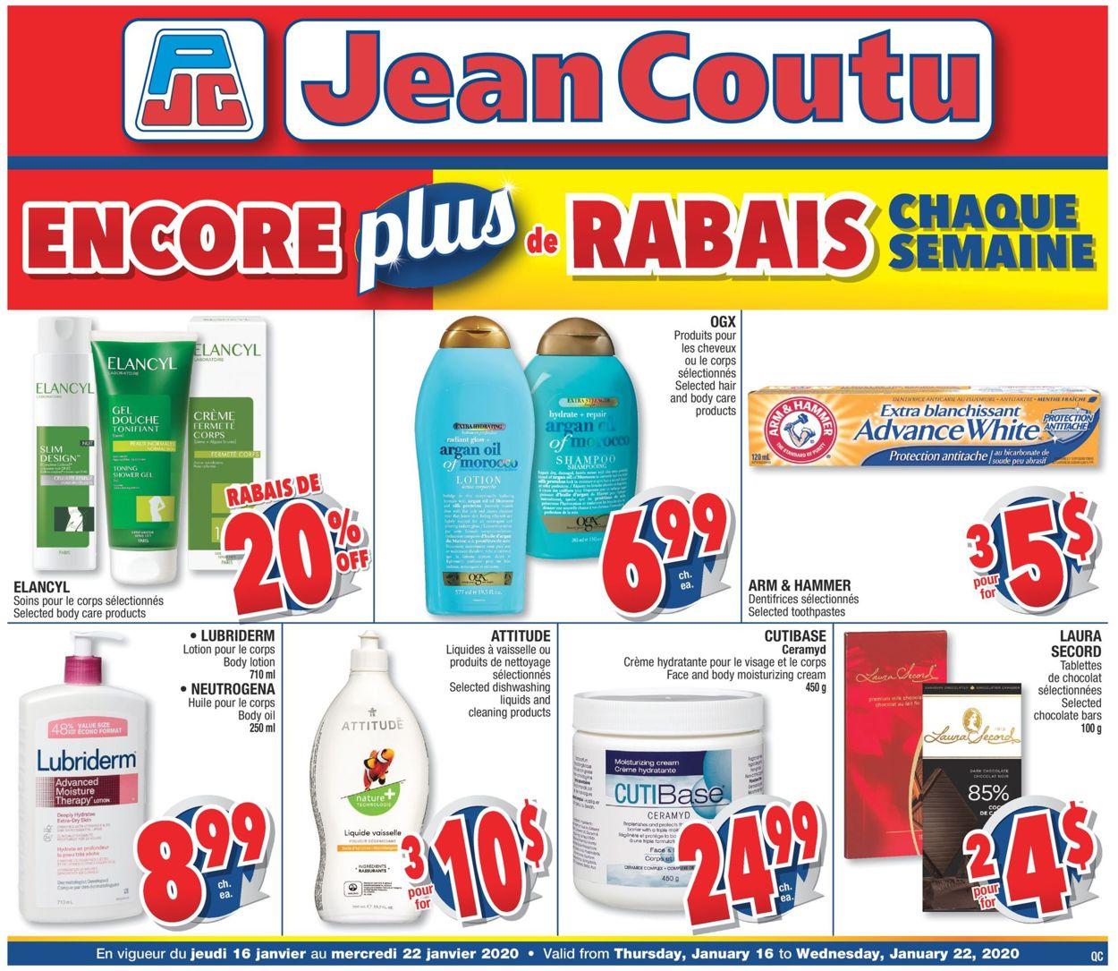 Jean Coutu Flyer - 01/16-01/22/2020