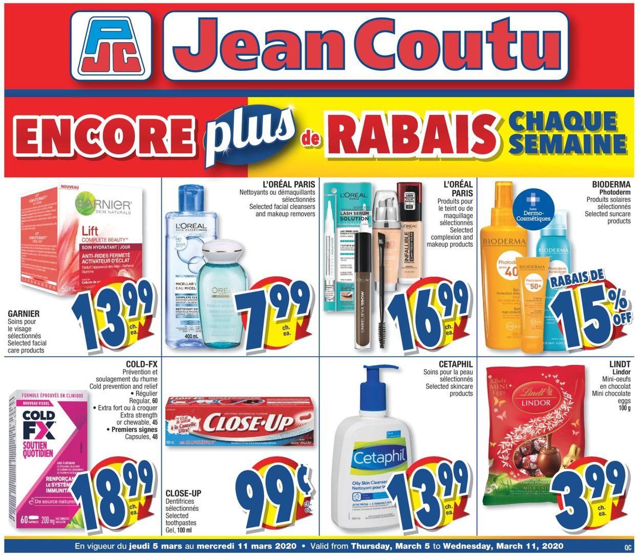 Jean Coutu Flyer - 03/05-03/11/2020
