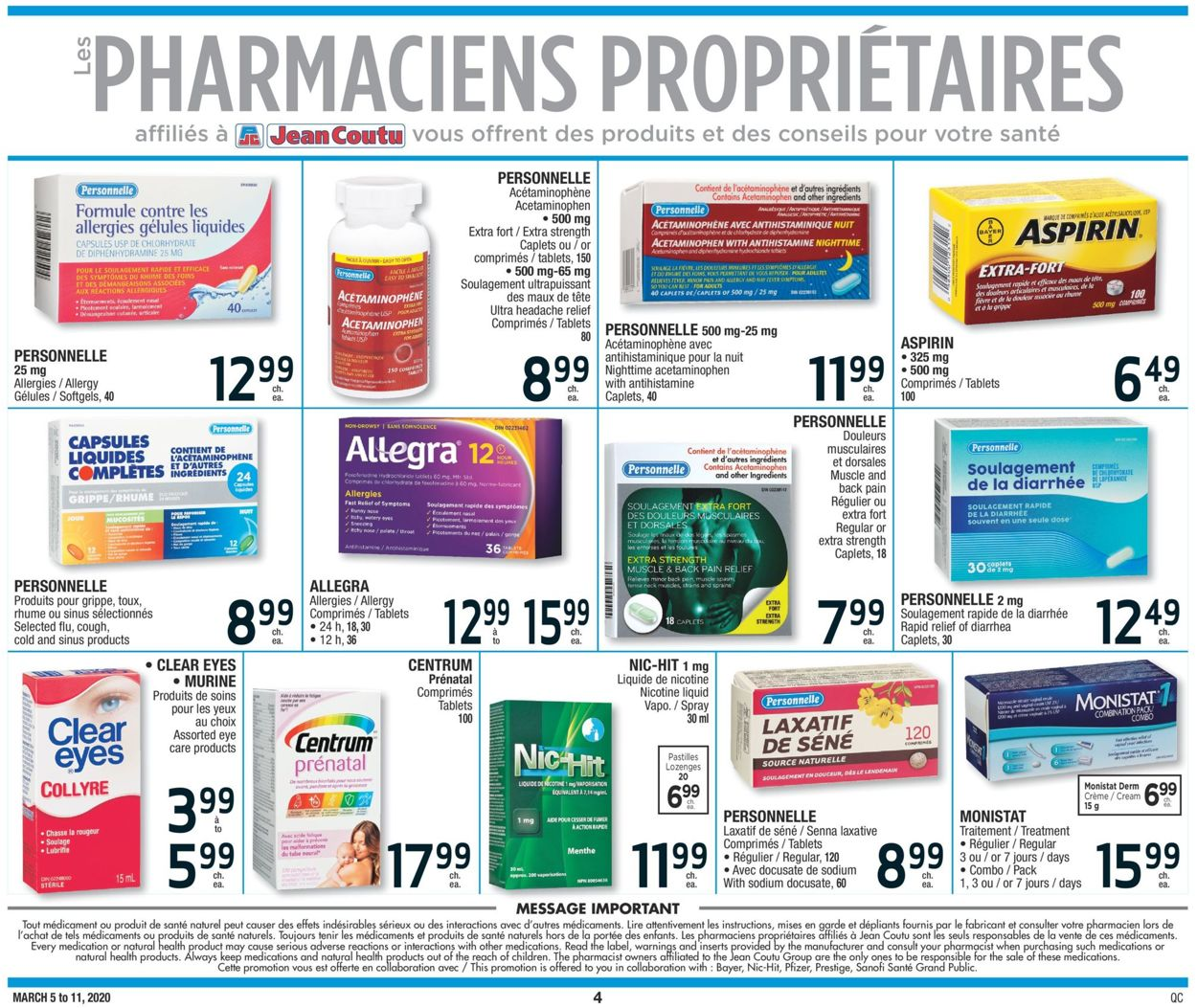 Jean Coutu Flyer - 03/05-03/11/2020 (Page 4)