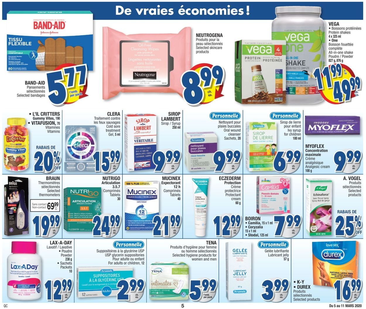 Jean Coutu Flyer - 03/05-03/11/2020 (Page 5)