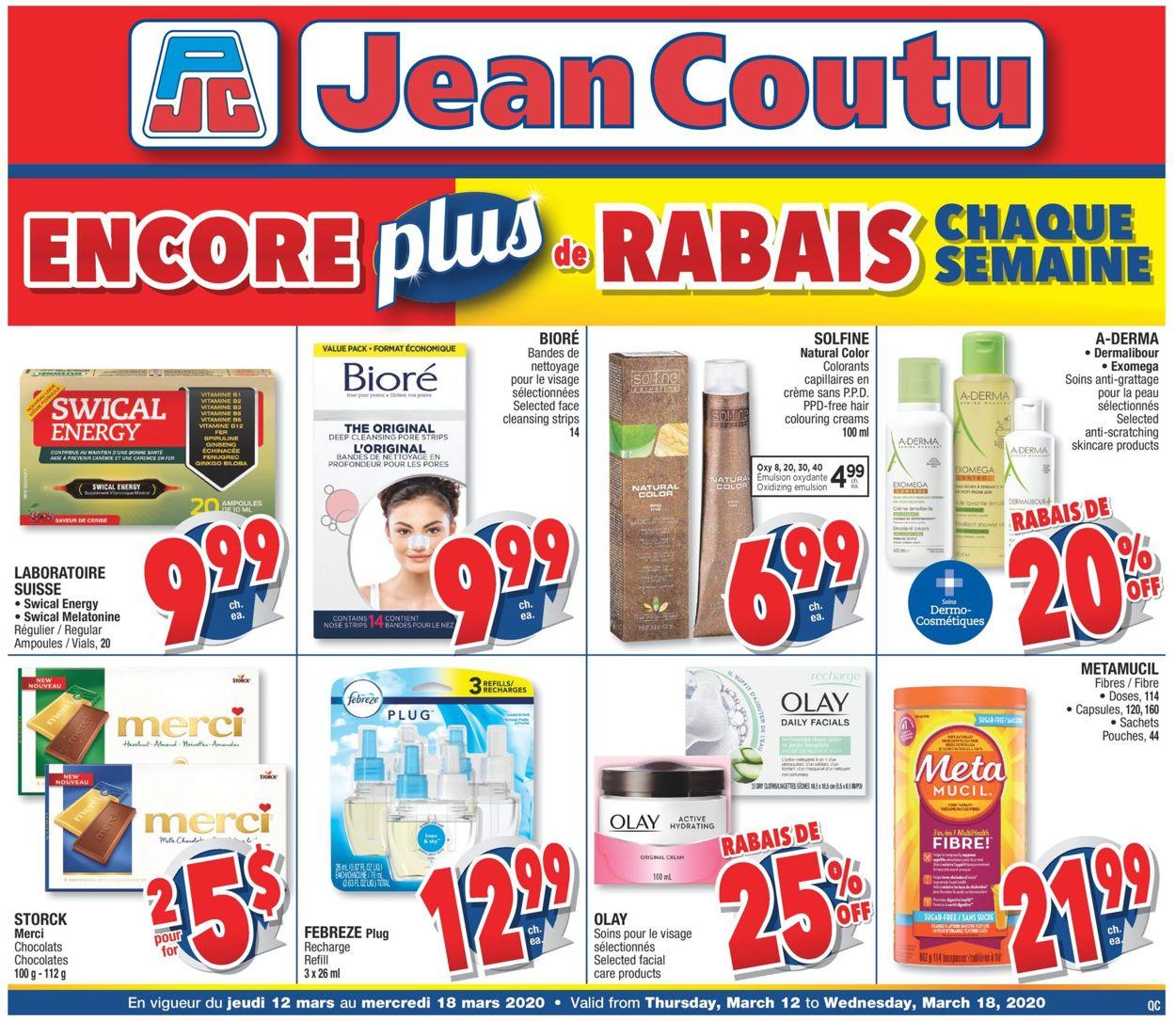 Jean Coutu Flyer - 03/12-03/18/2020