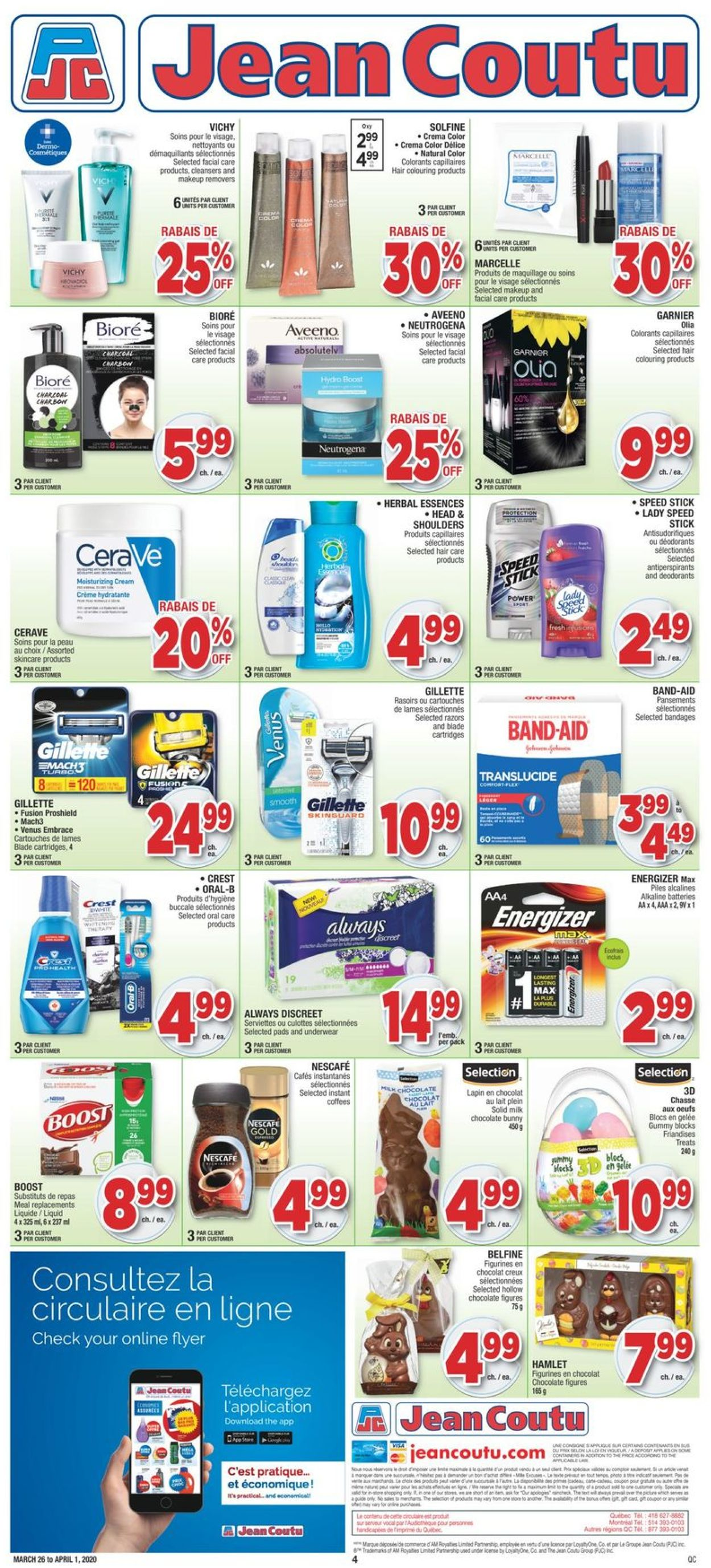 Jean Coutu Flyer - 03/26-04/01/2020 (Page 4)