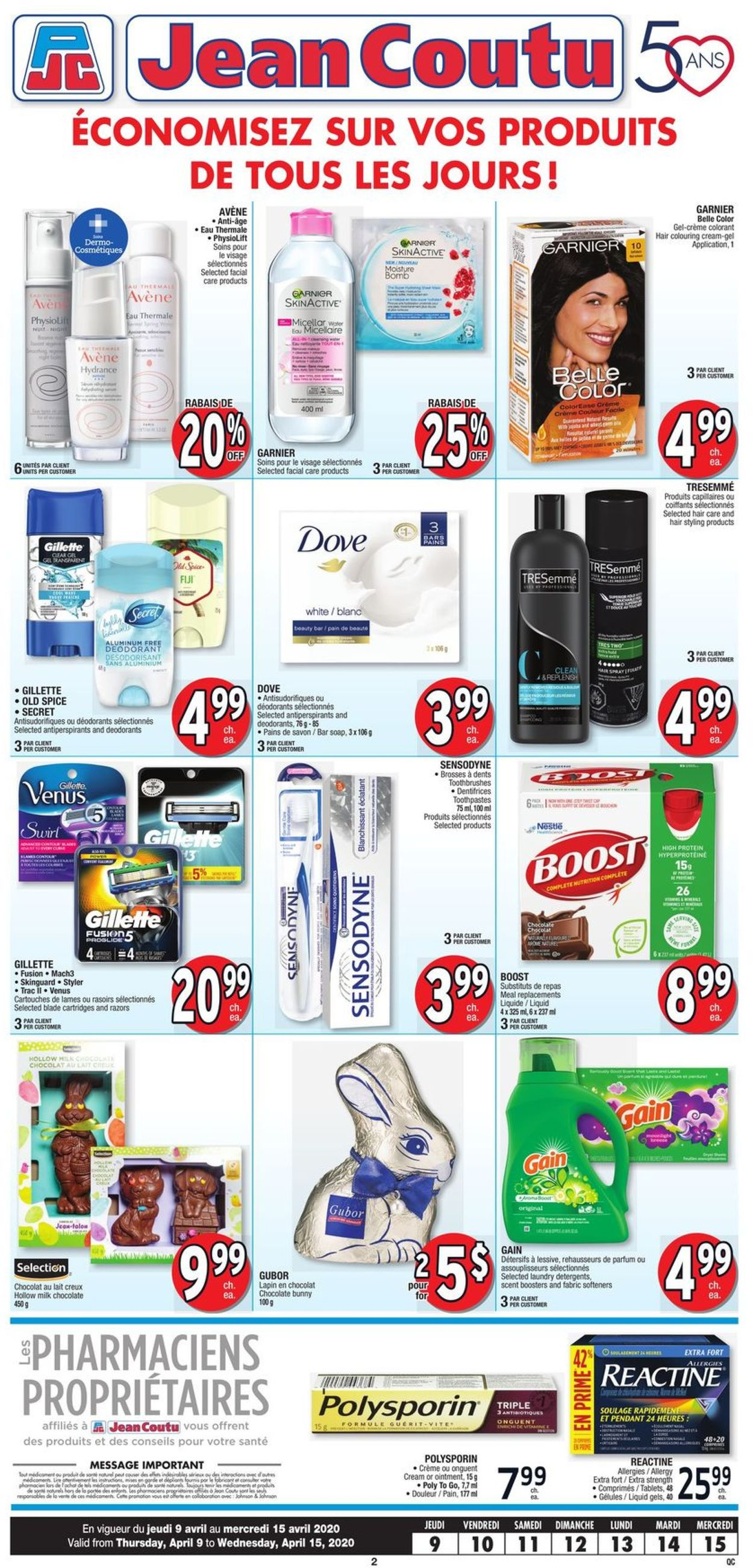 Jean Coutu Flyer - 04/09-04/15/2020 (Page 2)