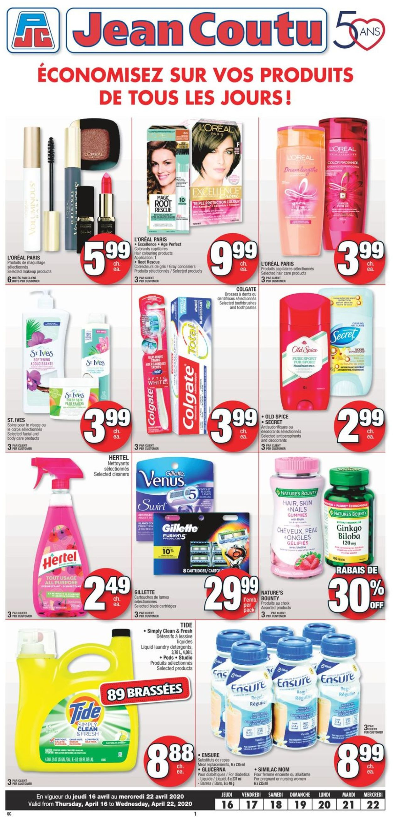 Jean Coutu Flyer - 04/16-04/22/2020