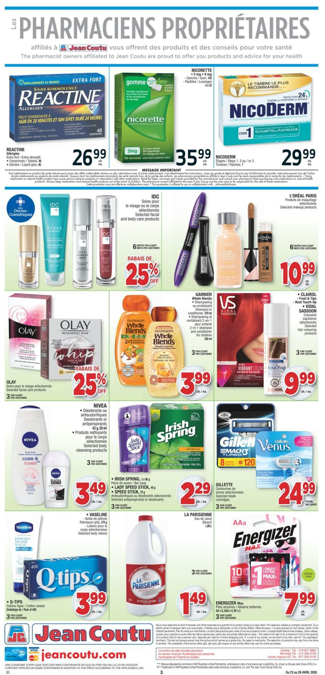 Jean Coutu Flyer - 04/23-04/29/2020 (Page 3)