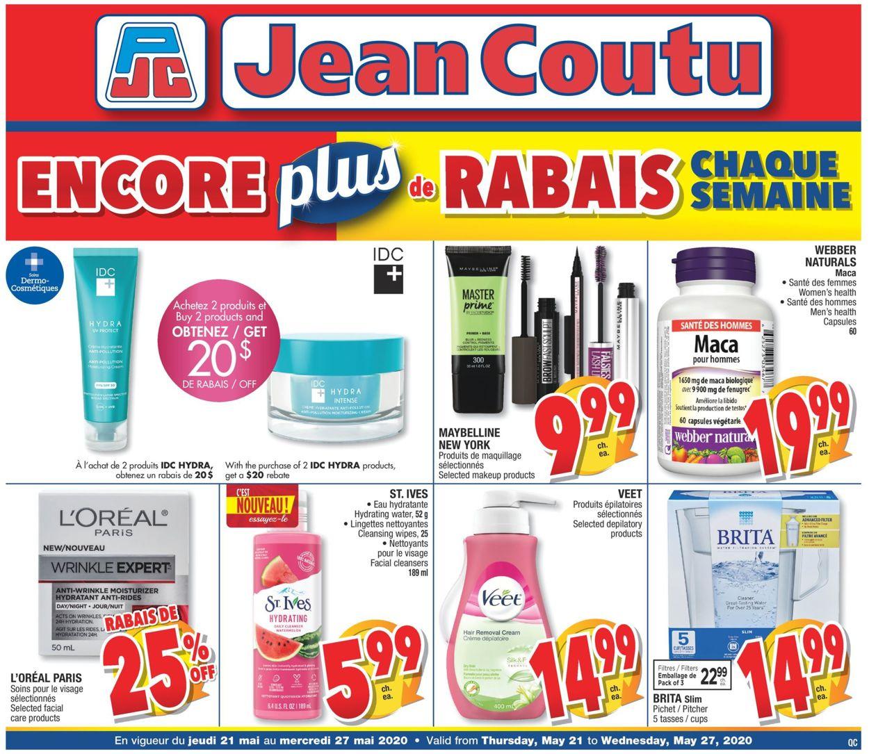 Jean Coutu Flyer - 05/21-05/27/2020