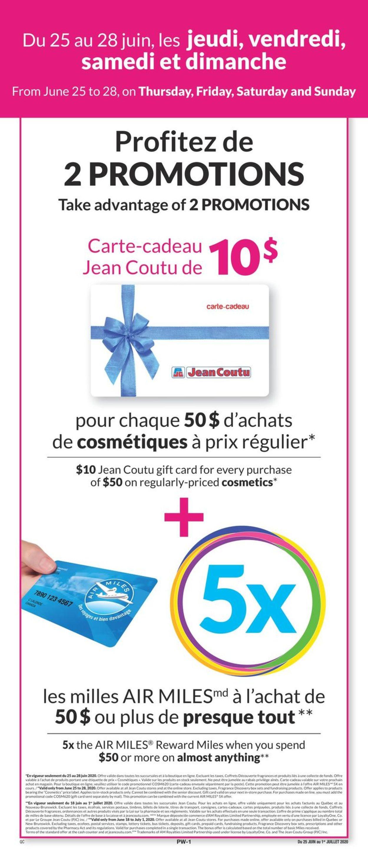 Jean Coutu Flyer - 06/25-07/01/2020
