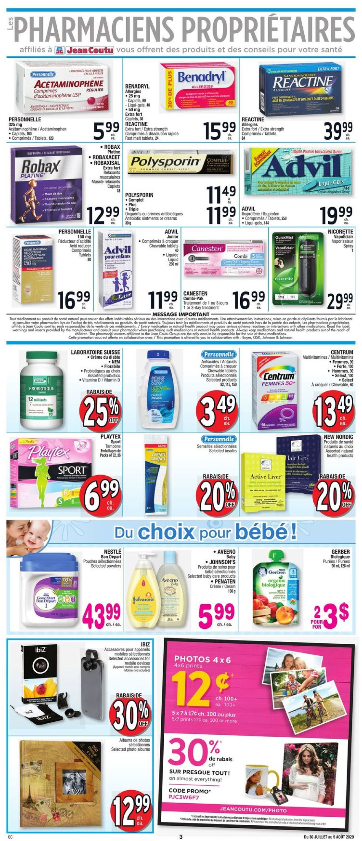 Jean Coutu Flyer - 07/30-08/05/2020 (Page 3)