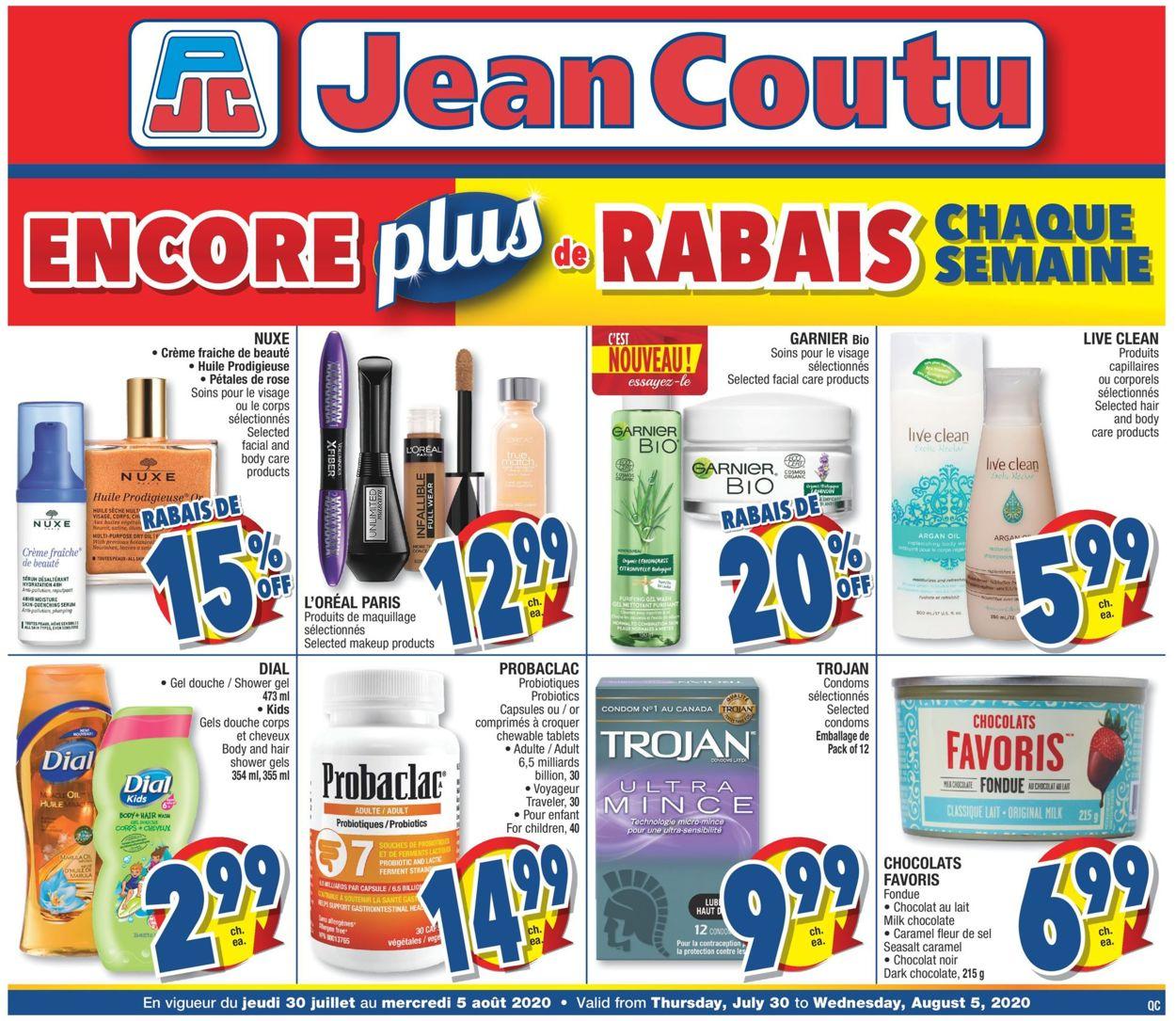 Jean Coutu Flyer - 07/30-08/05/2020