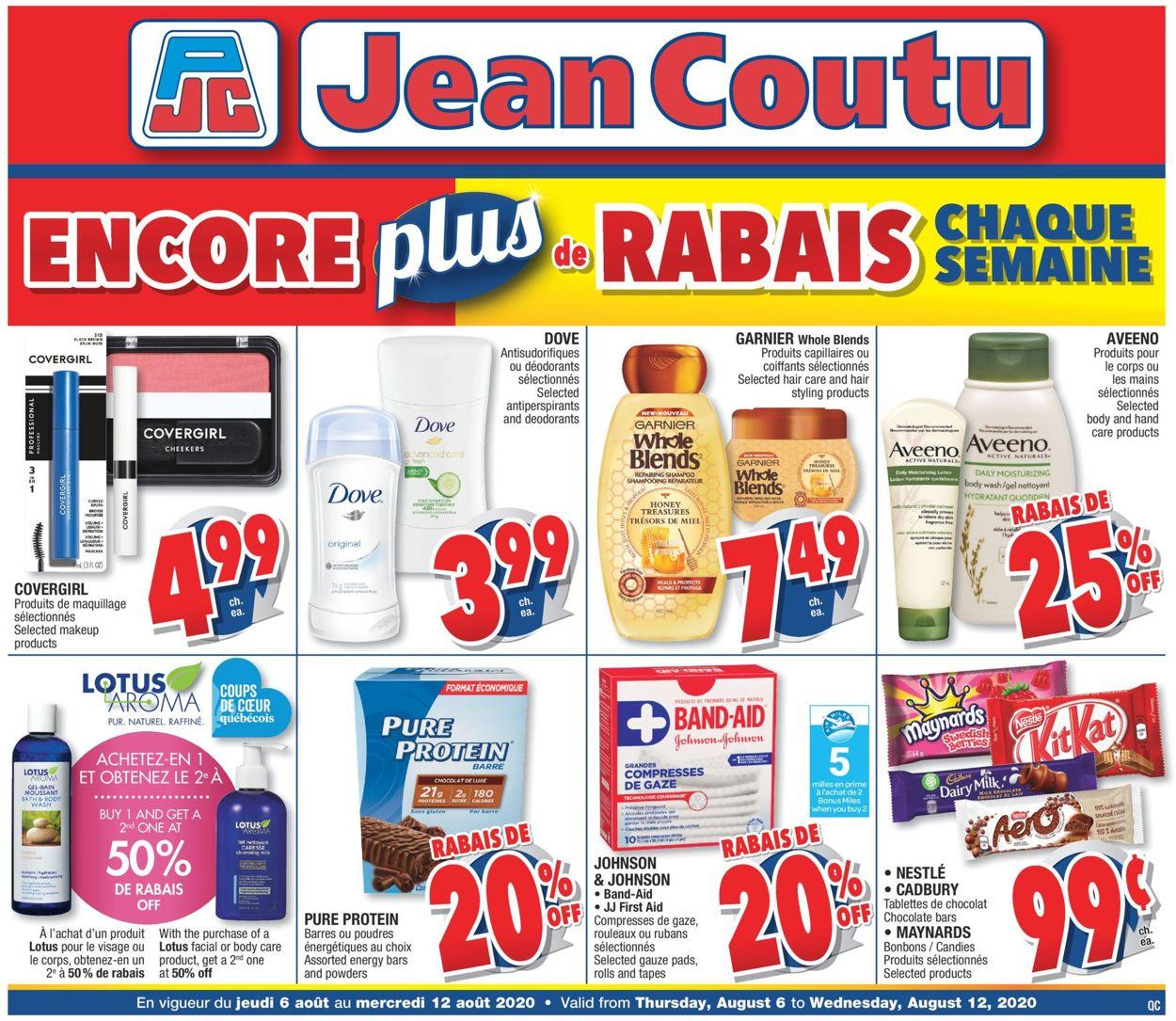 Jean Coutu Flyer - 08/06-08/12/2020
