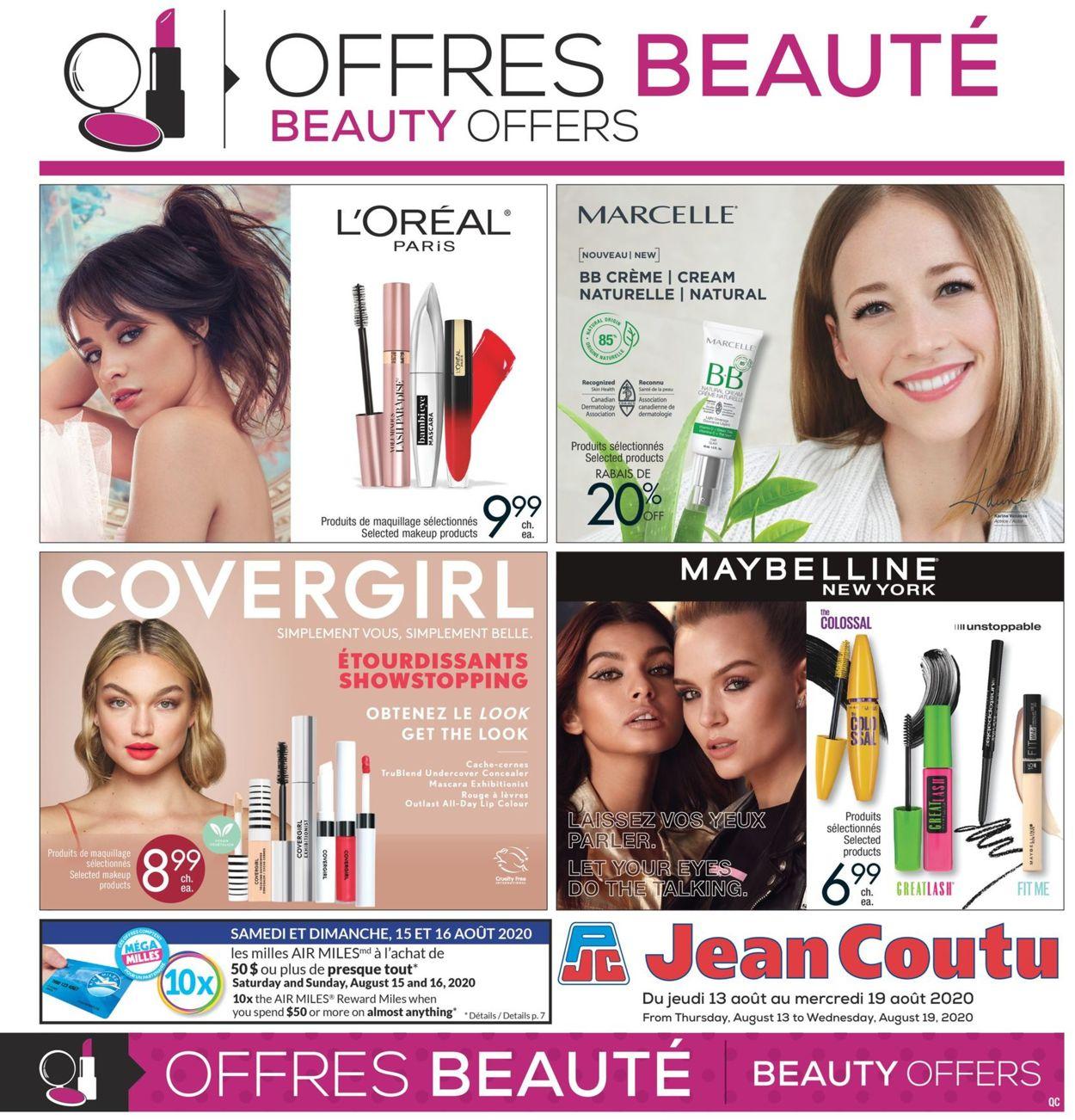 Jean Coutu Flyer - 08/13-08/19/2020