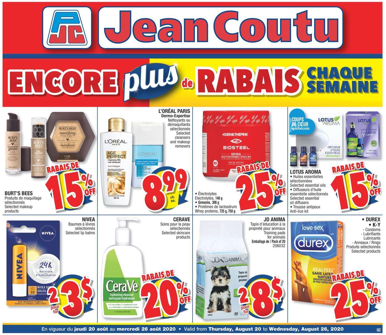 Jean Coutu Flyer - 08/20-08/26/2020