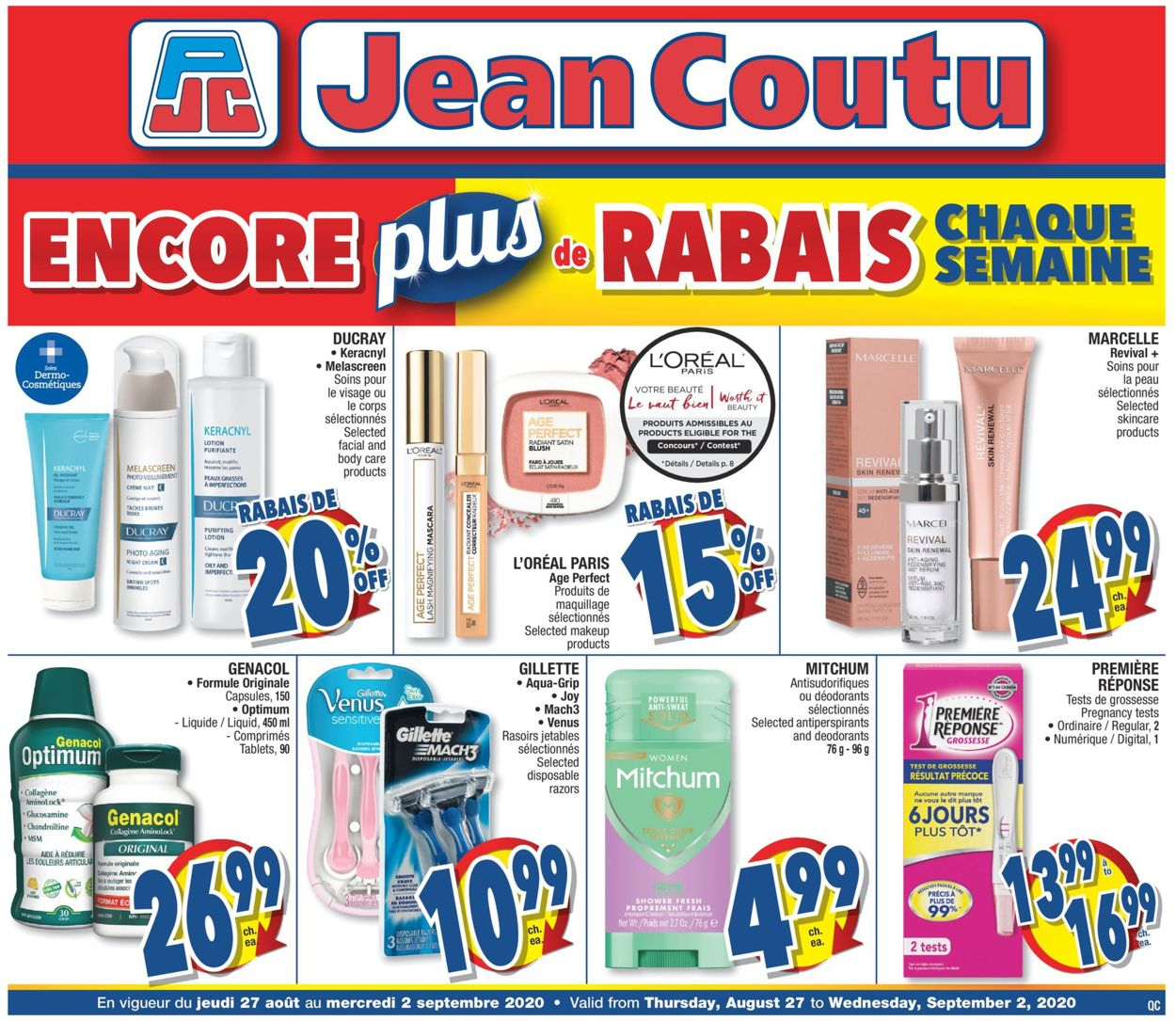 Jean Coutu Flyer - 08/27-09/02/2020
