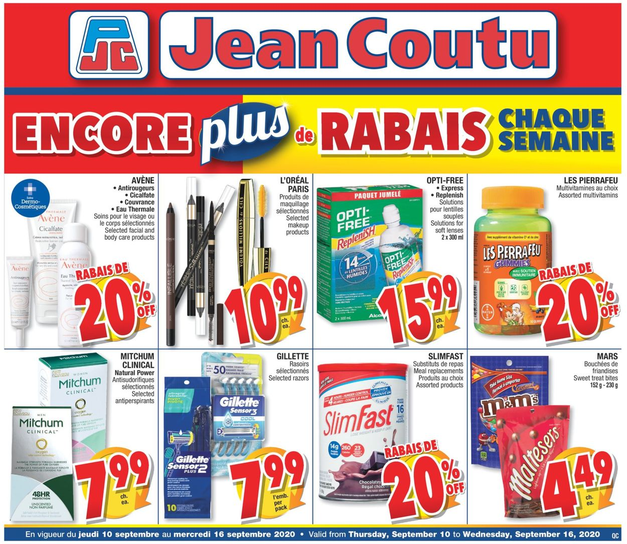 Jean Coutu Flyer - 09/10-09/16/2020