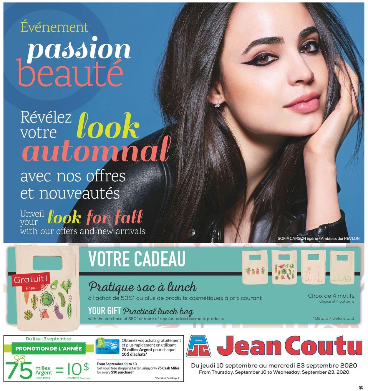 Jean Coutu Flyer - 09/10-09/23/2020