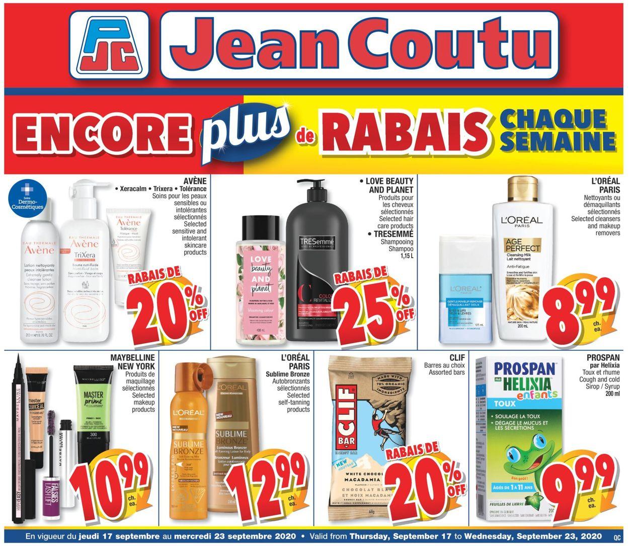 Jean Coutu Flyer - 09/17-09/23/2020