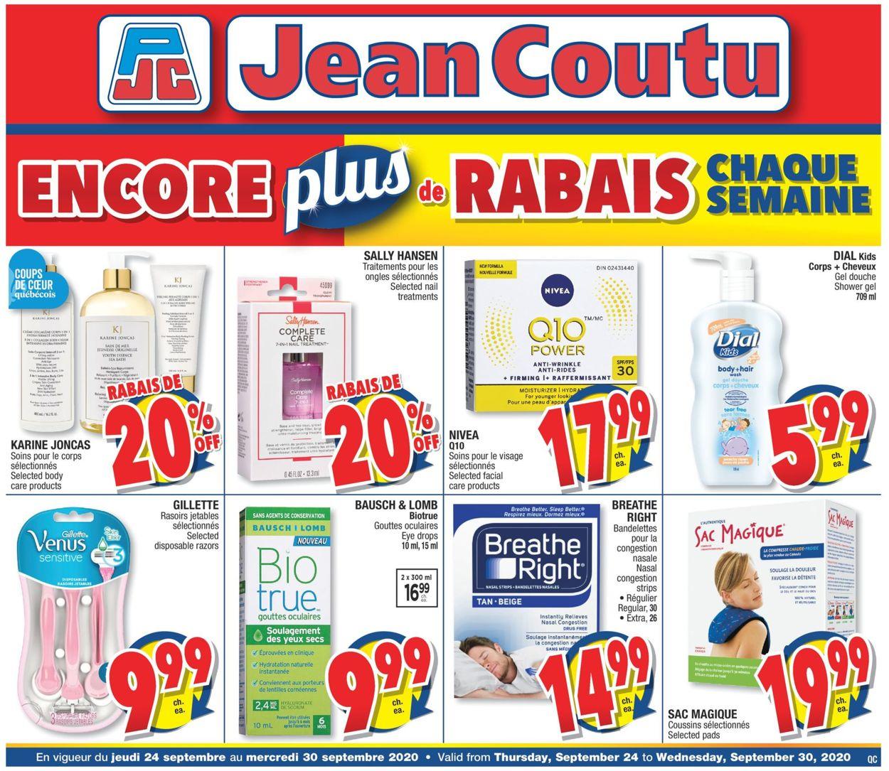 Jean Coutu Flyer - 09/24-09/30/2020