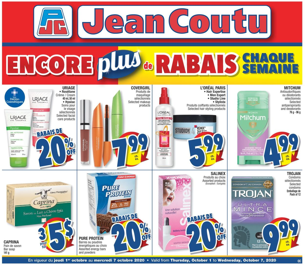 Jean Coutu Flyer - 10/01-10/07/2020