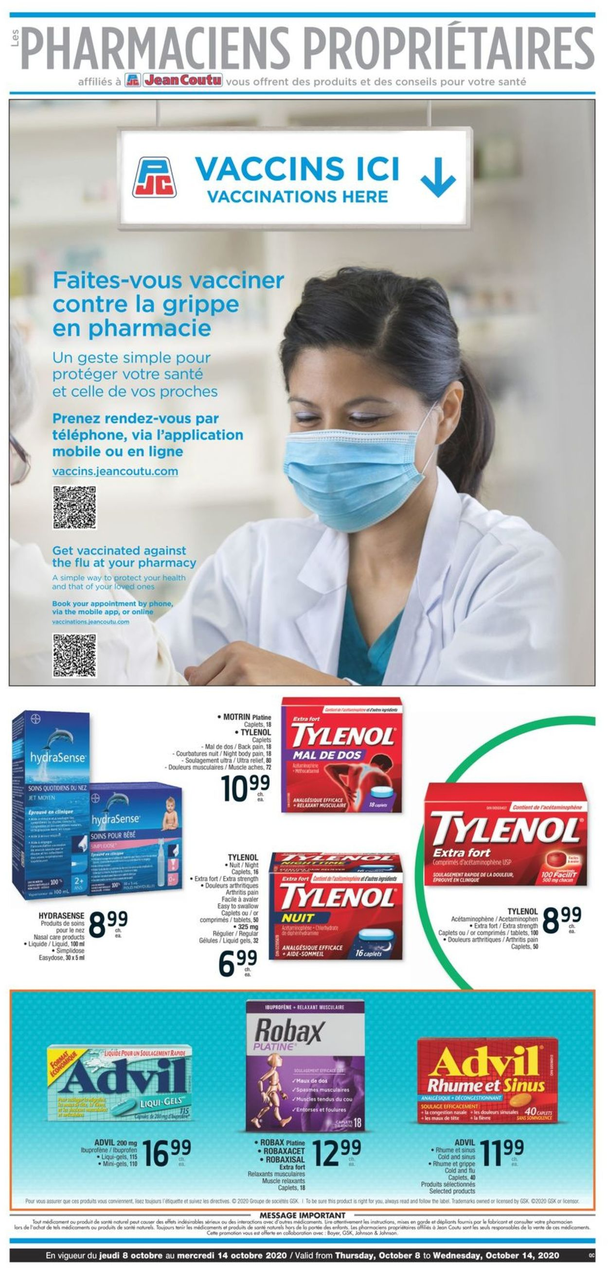 Jean Coutu Flyer - 10/08-10/14/2020