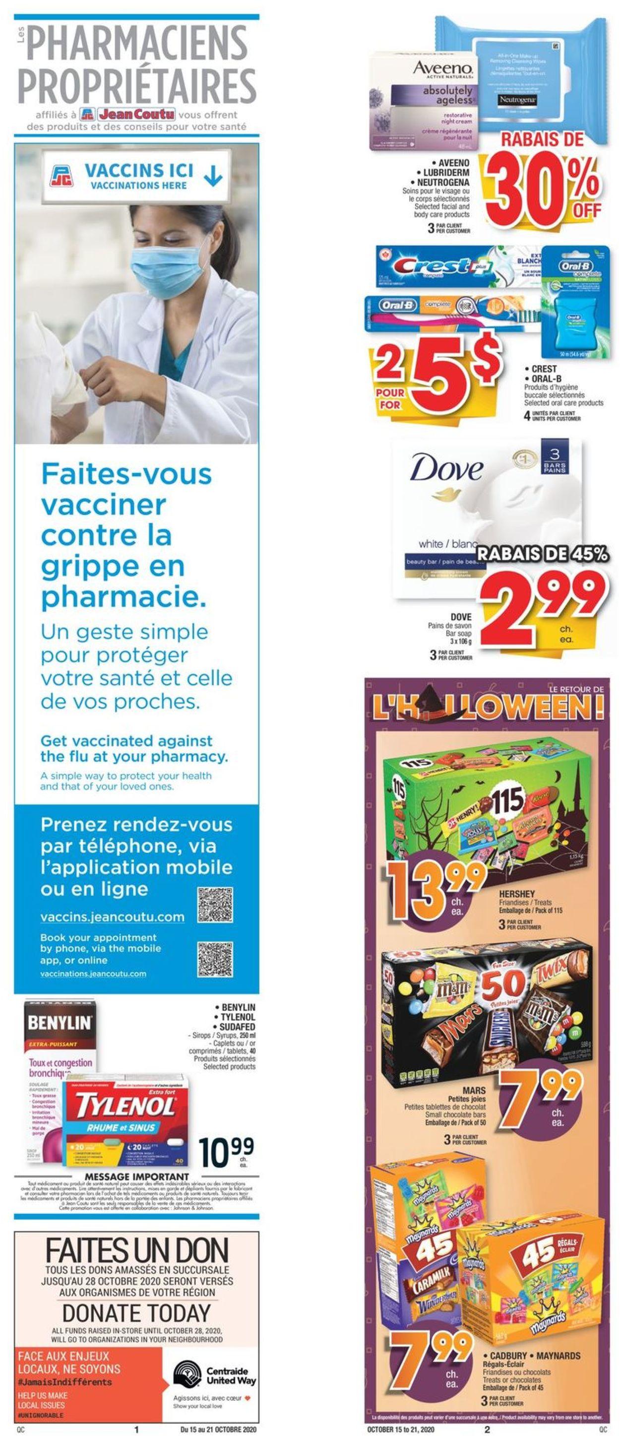 Jean Coutu Flyer - 10/15-10/21/2020