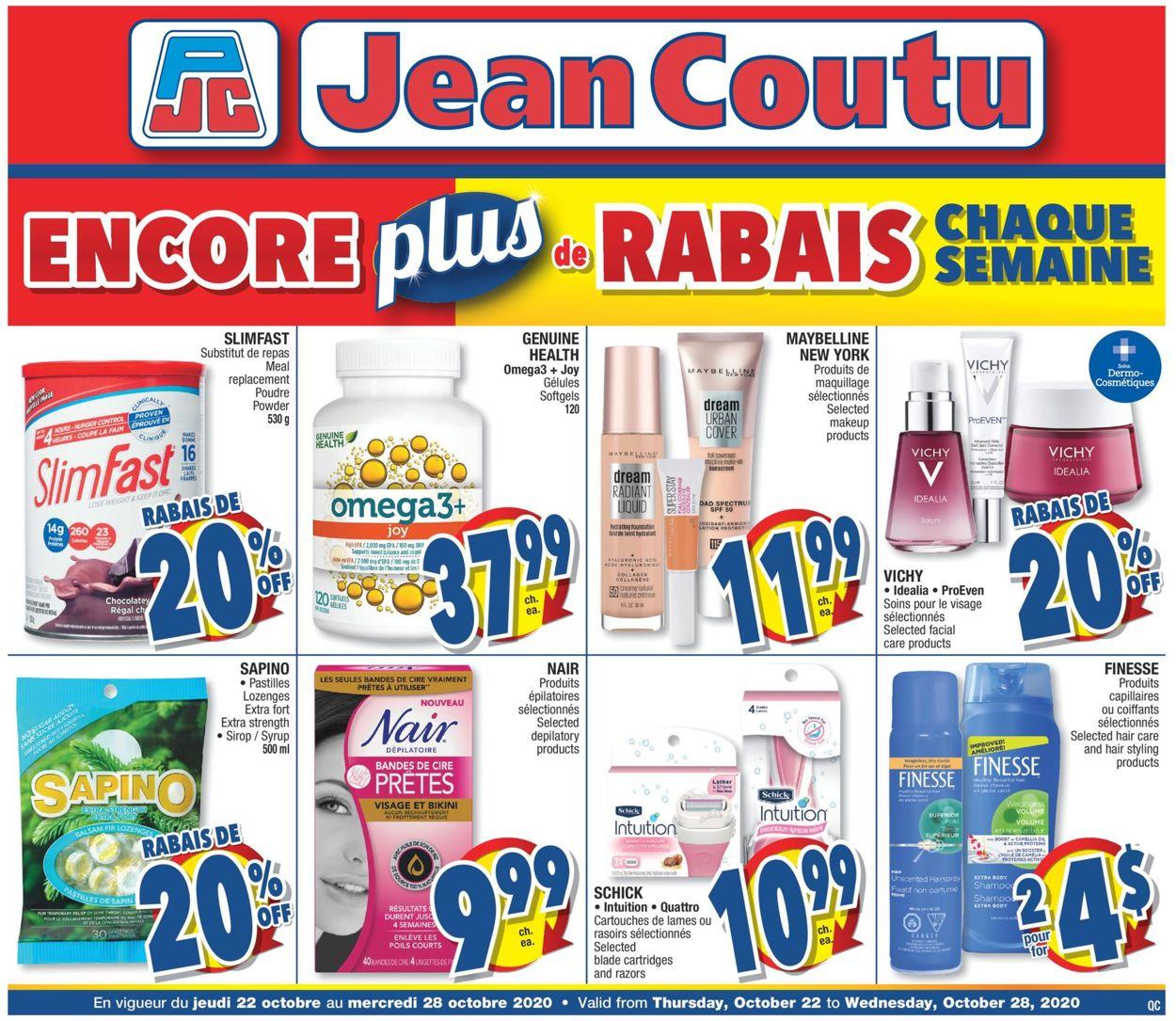 Jean Coutu Flyer - 10/22-10/28/2020