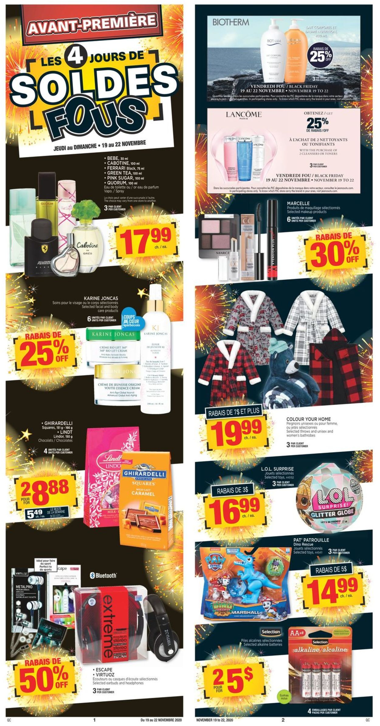 Jean Coutu Christmas 2020 Flyer - 11/19-11/25/2020