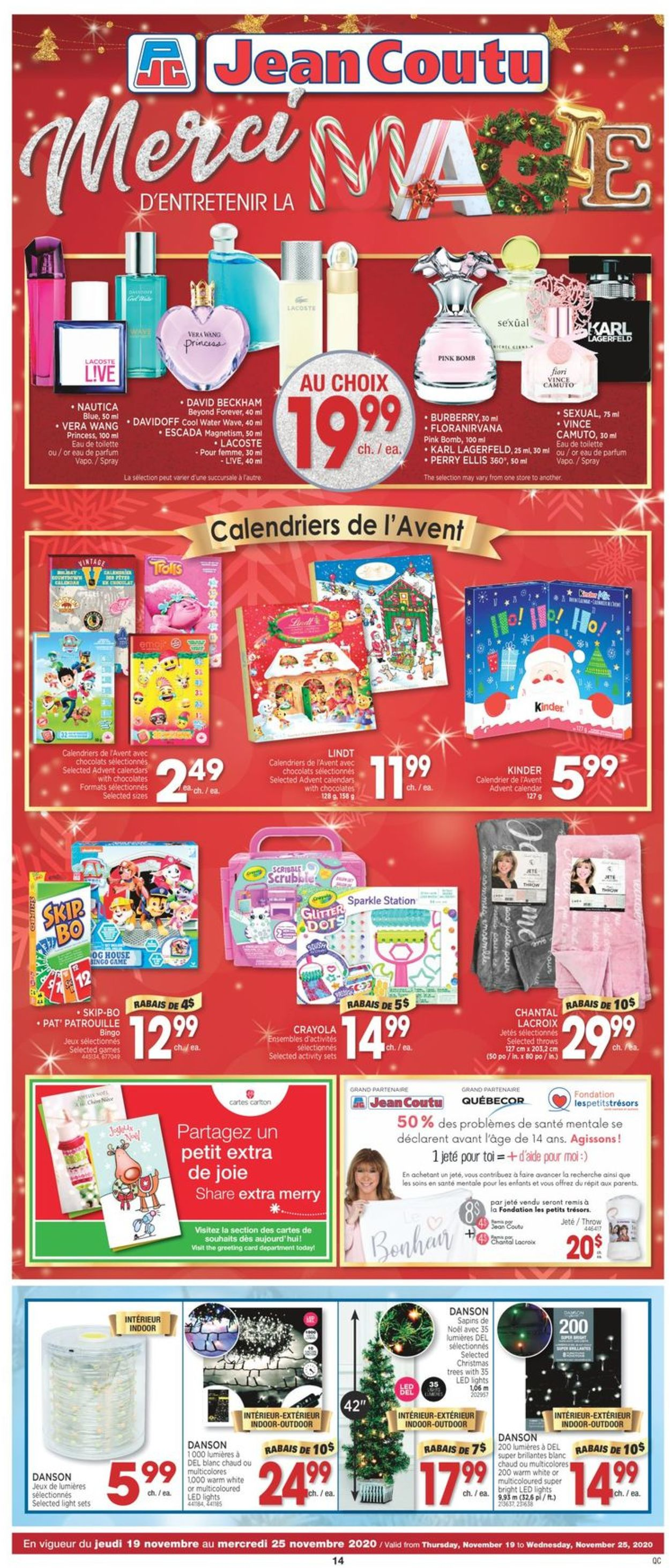 Jean Coutu Christmas 2020 Flyer - 11/19-11/25/2020 (Page 14)