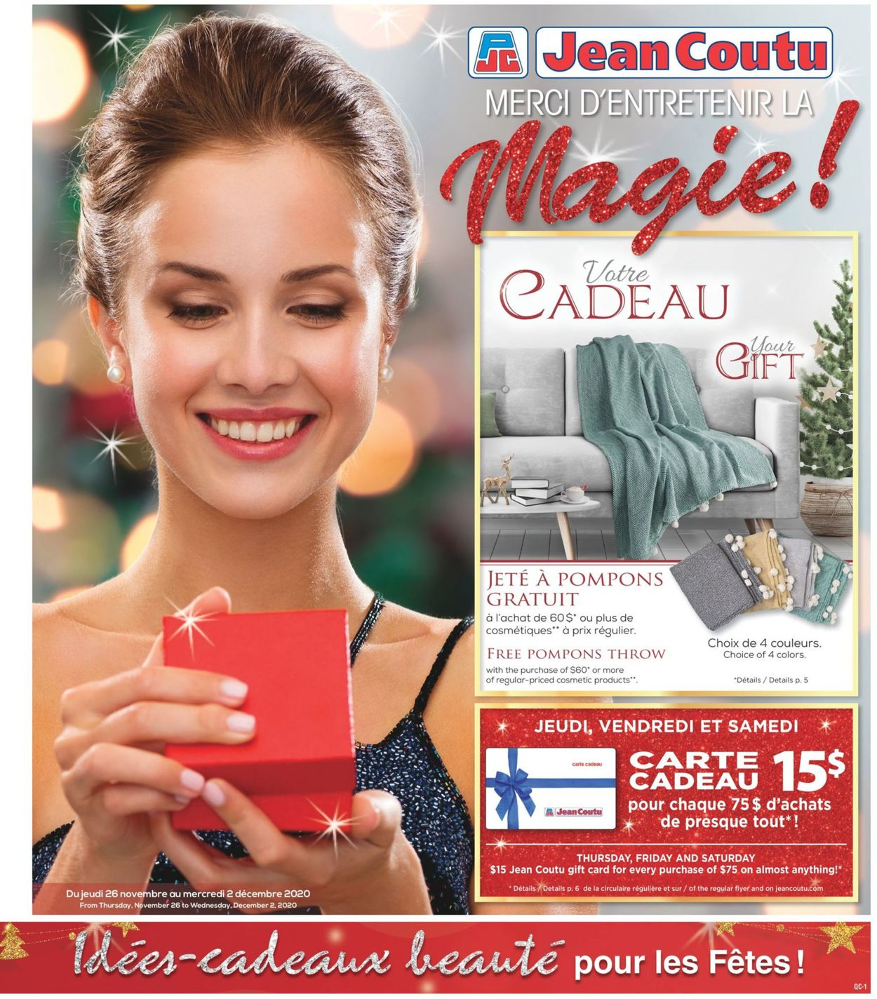 Jean Coutu - Black Friday 2020 Flyer - 11/26-12/02/2020