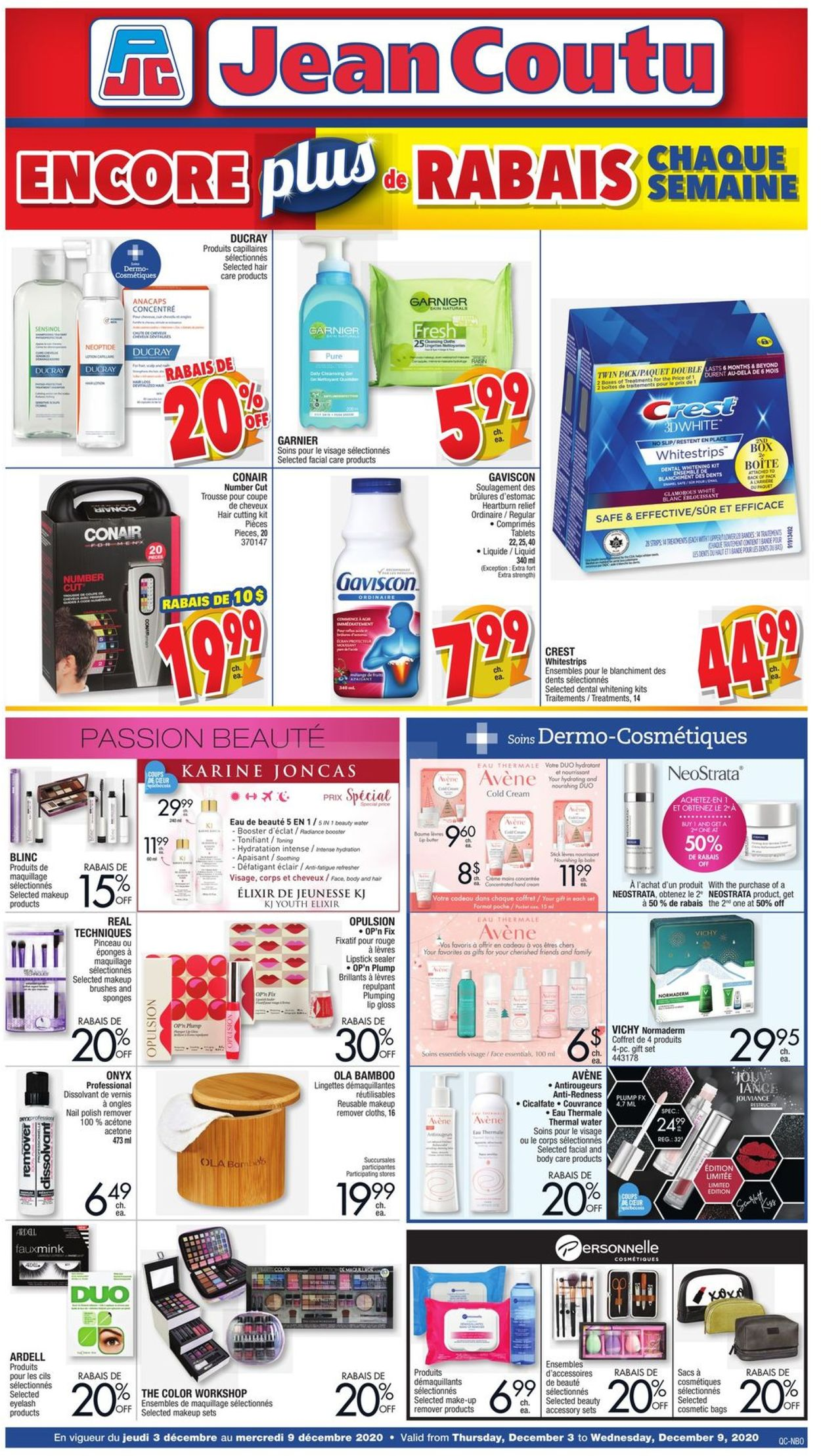 Jean Coutu - Holiday 2020 Flyer - 12/03-12/09/2020