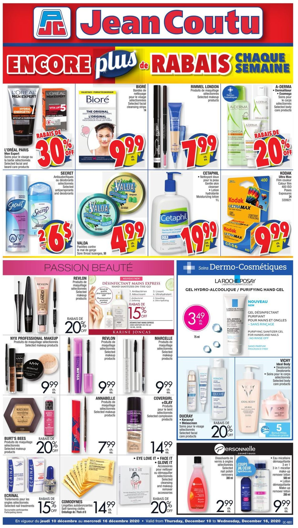 Jean Coutu - Holiday 2020 Flyer - 12/10-12/16/2020