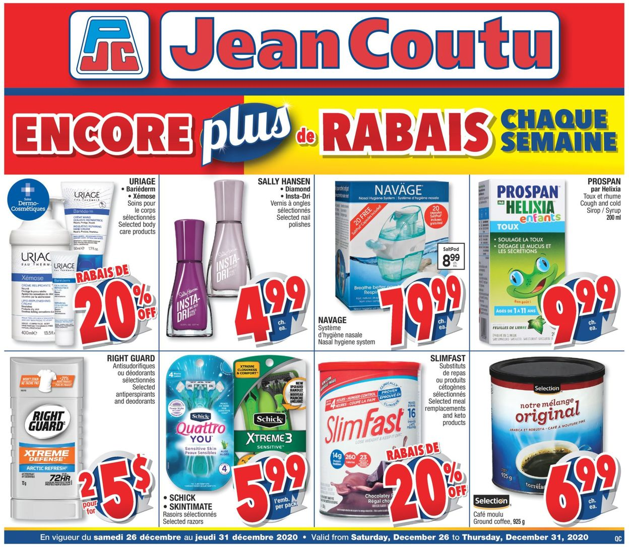 Jean Coutu - Christmas 2020 Flyer - 12/26-12/31/2020