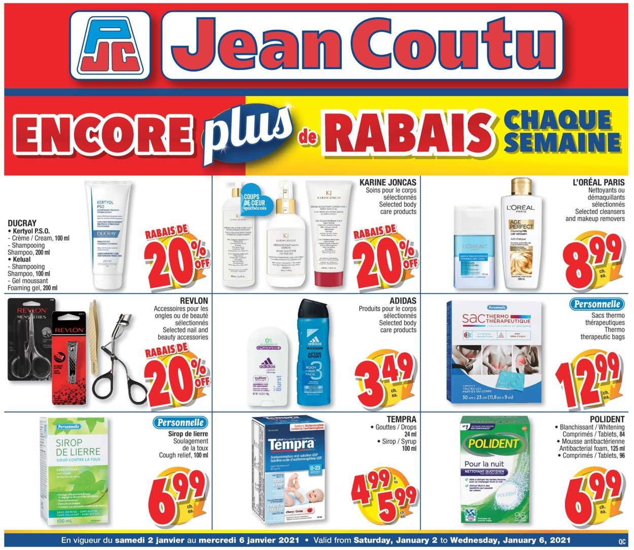 Jean Coutu Flyer - 01/02-01/06/2021