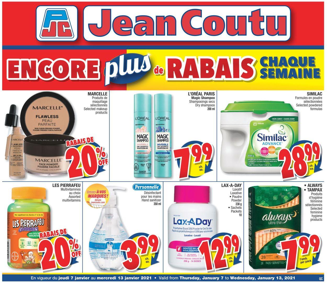 Jean Coutu Flyer - 01/07-01/13/2021