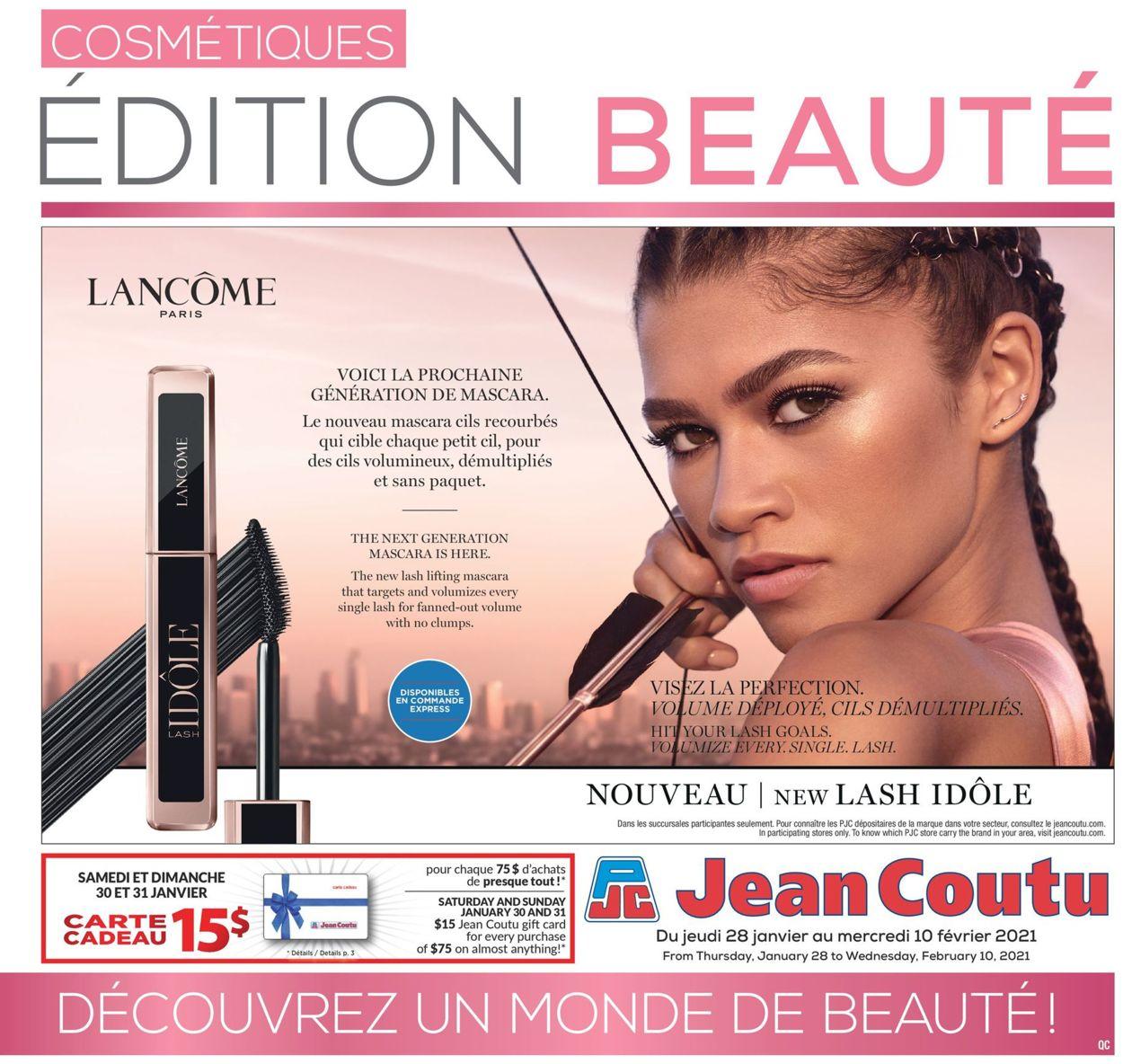 Jean Coutu - Cosmetics Flyer - 01/28-02/10/2021