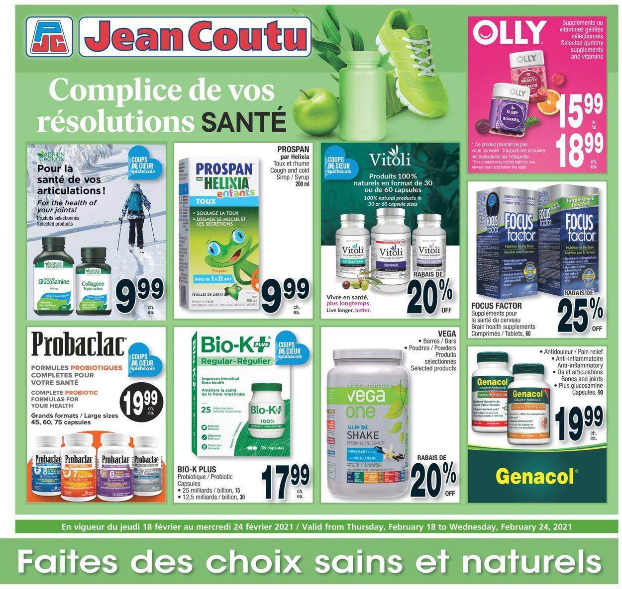 Jean Coutu Flyer - 02/18-02/24/2021