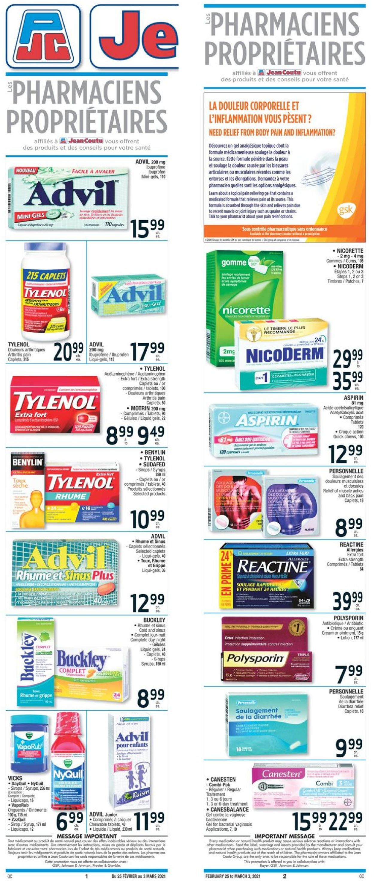 Jean Coutu Flyer - 02/25-03/03/2021