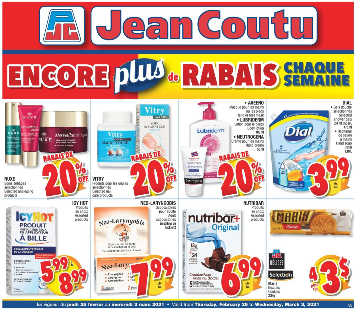 Jean Coutu Flyer - 02/25-03/03/2021