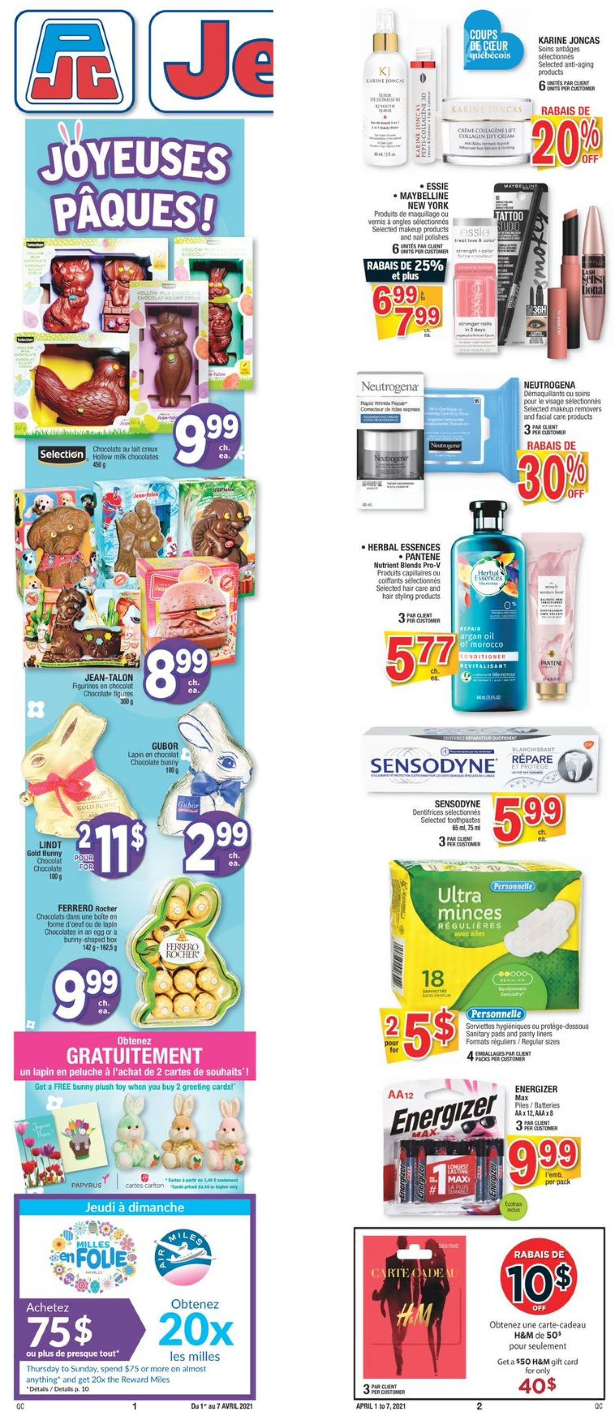 Jean Coutu Flyer - 04/01-04/07/2021