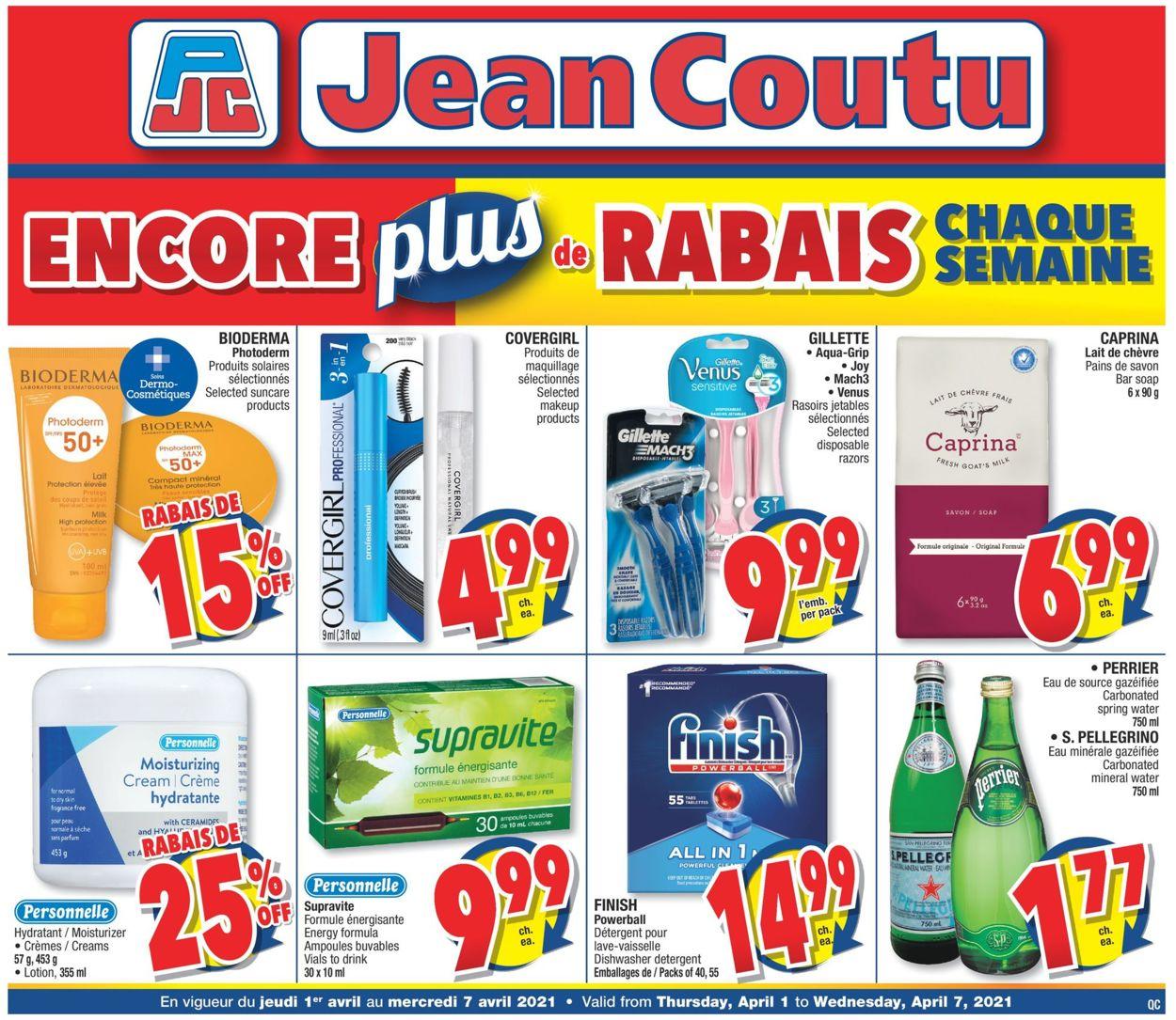 Jean Coutu Flyer - 04/01-04/07/2021